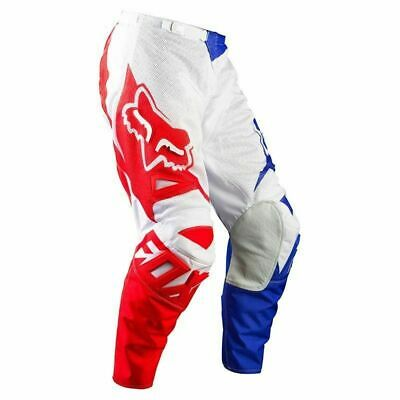 New Fox Racing Airline Red White Blue Pants Motocross Off Road Adult Size 36
