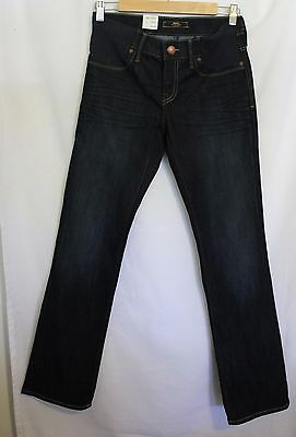 "MAVI ~ Heidi Maternity Dark Blue Wash Denim Straight Leg Jeans 25"" Aus 7"