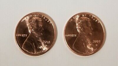 (2) - 2018 & 2019 Lincoln Cent Penny
