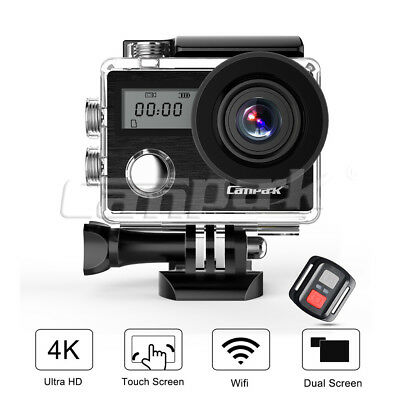 CAMPARK DualScreen 4K/30fps WIFI Waterproof Sports Action Camera Remote Control