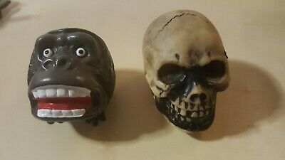 vintage Hopping Horror Gorilla and wind up Skull Made in Japan King Kong Monster