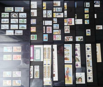 COLLECTION OF NAURU - MIXED BULK LOT OF MINT STAMPS ON 16 x pages LQQK!