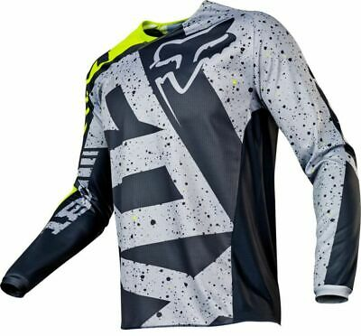 FOX RACING 180 Yellow Black Grey Jersey MOTOCROSS OFF ROAD Adult SIZE S Small