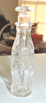 1930's Coca-Cola Glass PERFUME BOTTLE WITH ****FLAT ROUND**** STOPPER!! - RARE