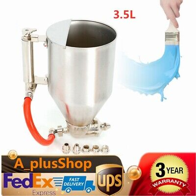 Stucco Spray Gun Cement Mortar Sprayer Hopper Jet Paint Wall Concrete Tool 3.5L