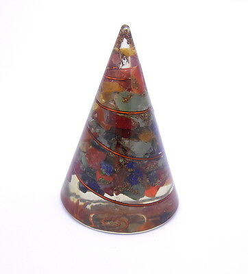 7 Chakra Orgone Cone Energy Beautiful Healing Pyramid Copper Coil Reiki