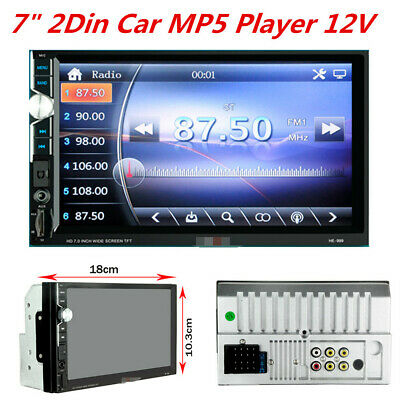 "7"" 2DIN HD Touch Screen Car Stereo Radio MP5 Player Bluetooth 12V Universal"