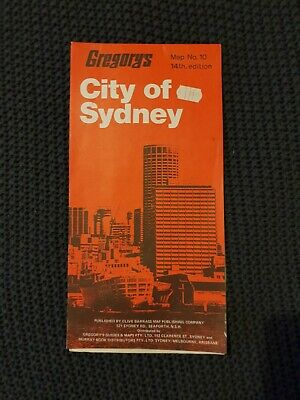 City of Sydney - Gregory's Map No. 10, 14th Edition