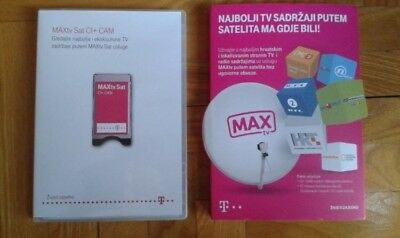 MAXTV CROATIA CI+CAM + 1 year subscription card (REFURBISHED