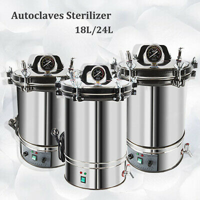 18/24L Stainless Steel Electric Autoclave Sterilizer Dental Medical Equipment