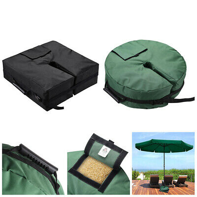 Sand Bag Weights Outdoor Umbrella Parasol Tent Base Stand Patio Garden Sunshade