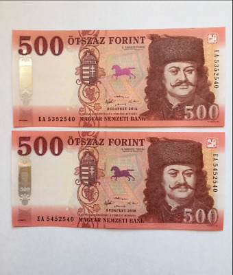 Hungary 500 Forint Banknote NEW 2018 UNC First Prefix EA