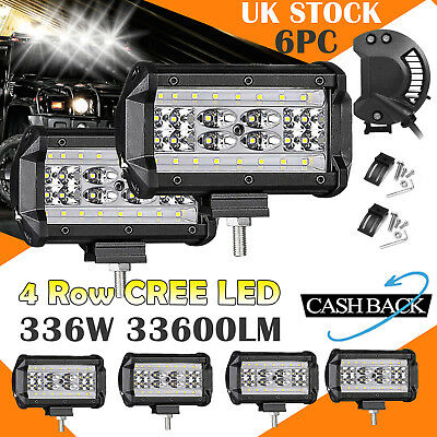 336W 5inch CREE LED Work Lights Bar Spot Light Offroad Vehicle Truck Car Lamp 6x