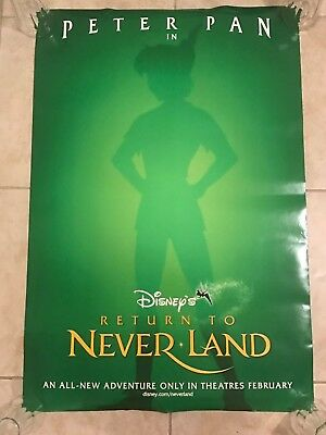 "2002 DISNEY Return to Neverland movie DS 27x40"" Movie Poster 1 sheet Peter Pan"