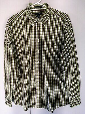 GANT Mens Vintage Cotton Shirt Plaid Check Green Brown White - Size XL