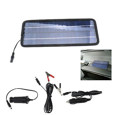 Power Portable Battery Charger Solar Trickle Panel 12V Sucker Crocodile Clip