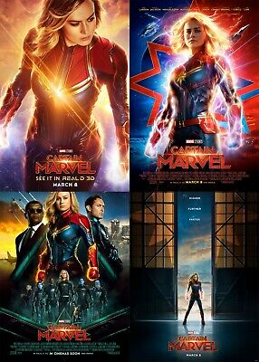Captain Marvel 2019 Movie Poster A0-A1-A2-A3-A4-A5-A6-MAXI C399