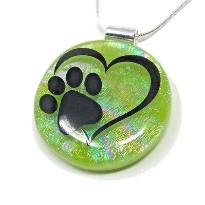 Pet Cremation Ashes Fused Glass Pendant Memorial Jewellery - Choices