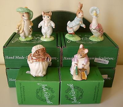 Beswick Beatrix Potter Gold/ Ed Complete Set Of 6 Fig's Mint,boxed V / Rare!!