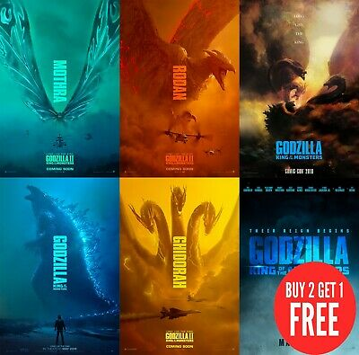 Godzilla: King of the Monsters 2019 PosterS Print A0-A1-A2-A3-A4-A5-A6-MAXI C401