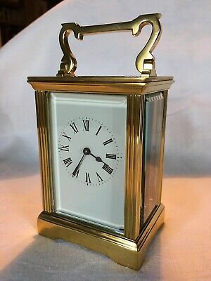 Vintage French Brass Case Carriage Clock