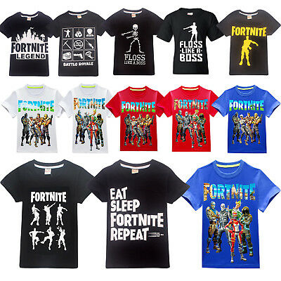 Kids Fortnite Game Battle Fortnight Floss Dance T-shirt Boy Summer T-Shirts Tops