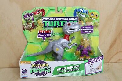 Teenage Mutant Ninja Turtles Half Shell Heroes Robo Raptor Triceraton - New