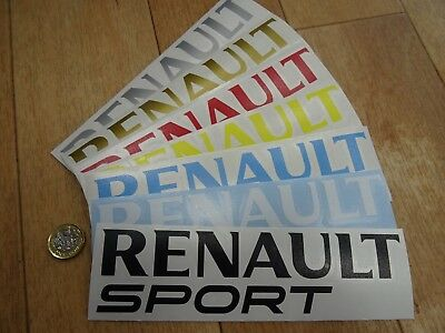 "2 x RENAULT SPORT Side Skirt Car (200mm 10"") Decals / Stickers COLOUR CHOICE  V2"
