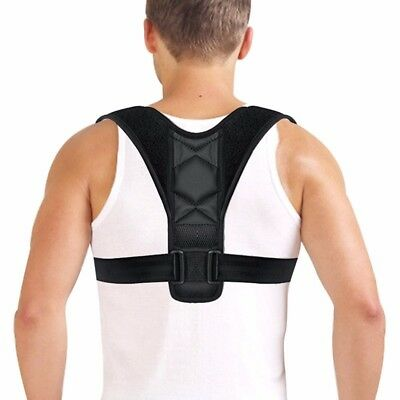 Men Body Wellness Posture Corrector Adjustable Shoulder Back Support Brace Belt