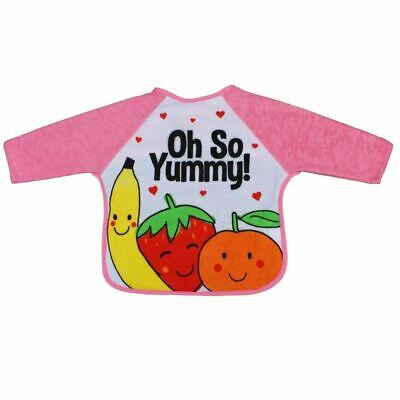 First Steps Baby Bib Oh So Yummy! - Pink