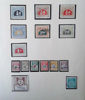 AUSTRALIA STAMPS TAX INSTALMENT & CUSTOMS DUTY COLLECTION x 15 DIFFERENT - USED
