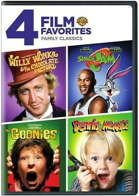 Willy Wonka Chocolate Factory / Space Jam / Goonies / Dennis the Menace DVD NEW