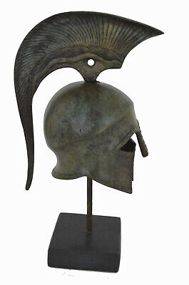 Helmet bronze marble based ancient Greek reproduction artifact