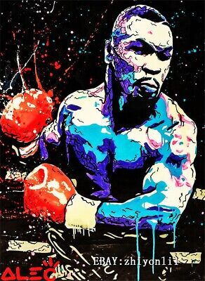 Alec Monopoly Hand painted oil painting on canvas Mike Tyson 24x36 inch
