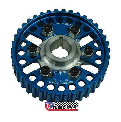 Pair of Ford Cosworth YB Sierra RS Escort Vernier pulleys in blue