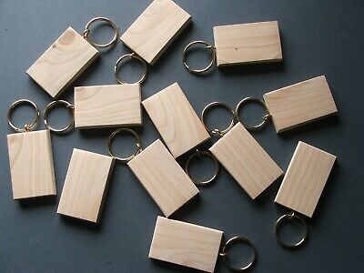 50mmx30mmBLANK KEYRING BLANKS,PYROGRAPHY,ENGRAVING etc.12 FOR £8.70 INC post