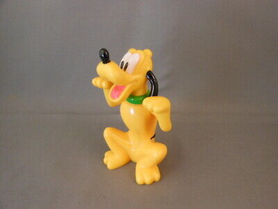 """Vtg Disney PLUTO Mickey Mouses Dog 3"""" Plastic Figure Articulated Arms Sitting"""