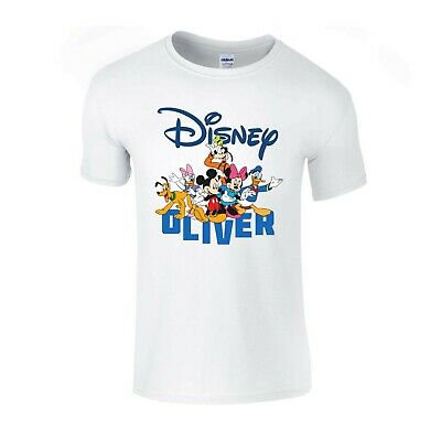 Personalised Name Disney Mickey Mouse Character Kids Girls Boys Unisex T-Shirt