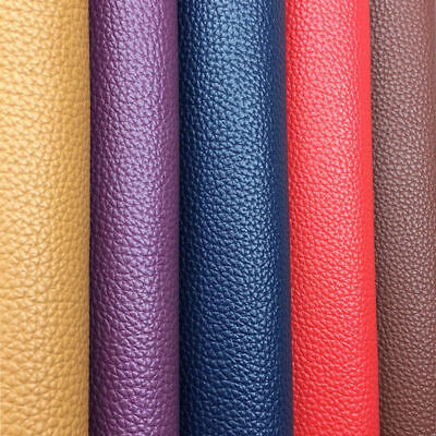 PU Leather Fabric Faux Clothing Vinyl Car Interior Decorate Bag DIY A4/20x120cm