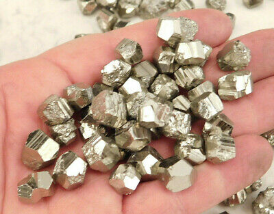 Lot of TEN (10) Small 100% Natural RHOMBIC PYRITE Crystals Found in Peru!