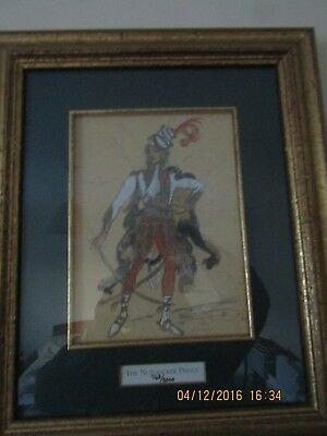 BOSHOI BALLET - RARE REPRINT OF 1919 costume design for  'THE NUTCRACKER' -