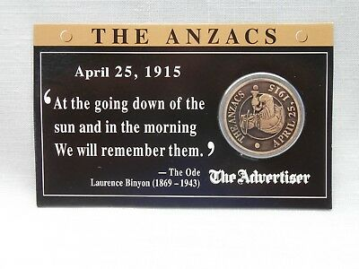 "THE ANZACS ""Lest We Forget"" Token - Produced for The Advertiser Adelaide"