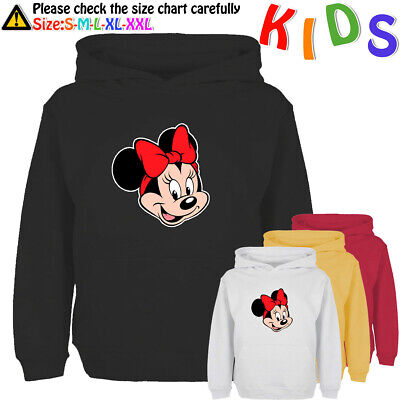 Disney Minnie Mouse Pattern Kids' Hoodie Child's Sweatshirt Girl's Pullover Tops