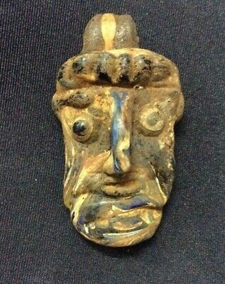 Ancient Very Rare Phoenician Face Bead Roman Jewish Stunning Power Amulet R8