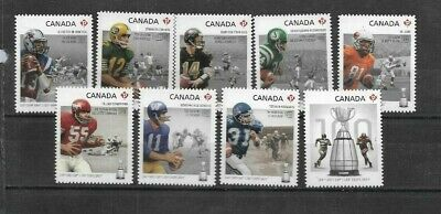 pk41745:Stamps-Canada #2568i-2576i Grey Cup 100th Game 'P' Rate Issues - MNH