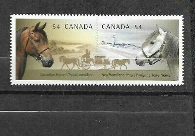 pk41774:Stamps-Canada #2330i Horses 54 cent Pair Issue - MNH