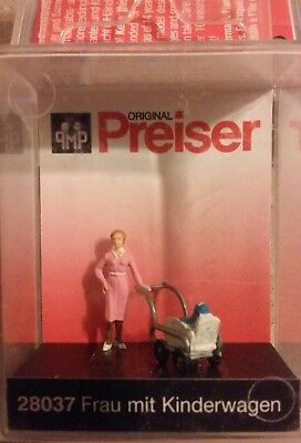 Ho scale Preiser Women with Baby Carriage Item # 28037.
