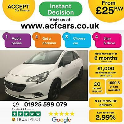 2015 White Vauxhall Corsa 1.2 70 Limited Edition Petrol 3Dr Car Finance Fr £25Pw