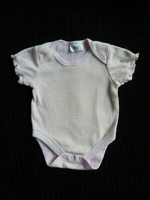 Baby clothes GIRL newborn 0-1m pinks frill short sleeve bodysuit/top SEE SHOP