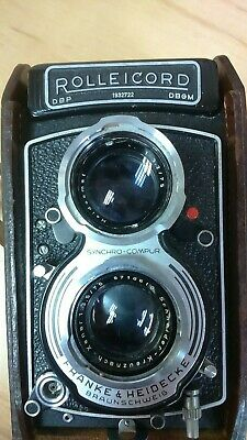 Vintage Rolleicord Model K3E Type 1 Box Camera with Case